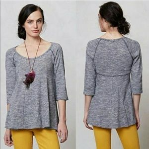 Anthropologie Deletta Pathed Seams swing top